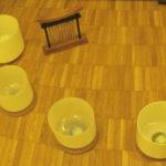 クリスタルボウルとテーブルチャイム